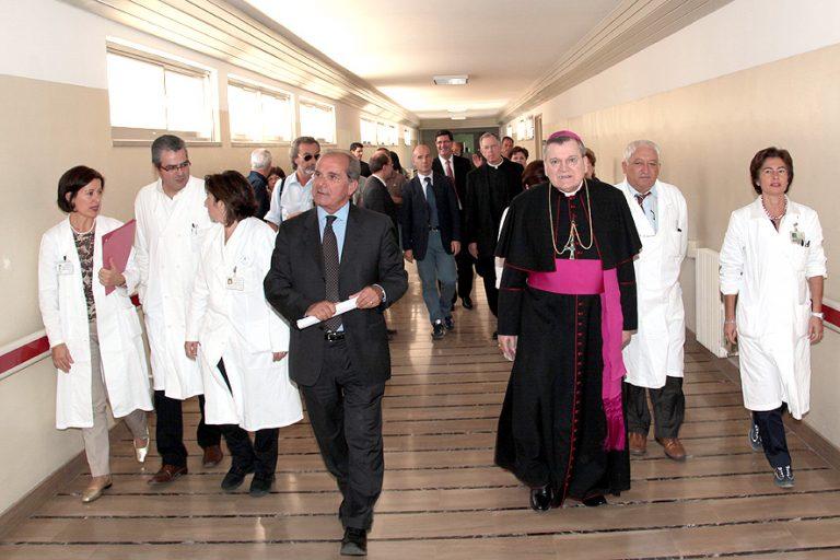 CHI & Casa leadership teams touring St. Pio's Casa Hospital in Italy during collaboration program.
