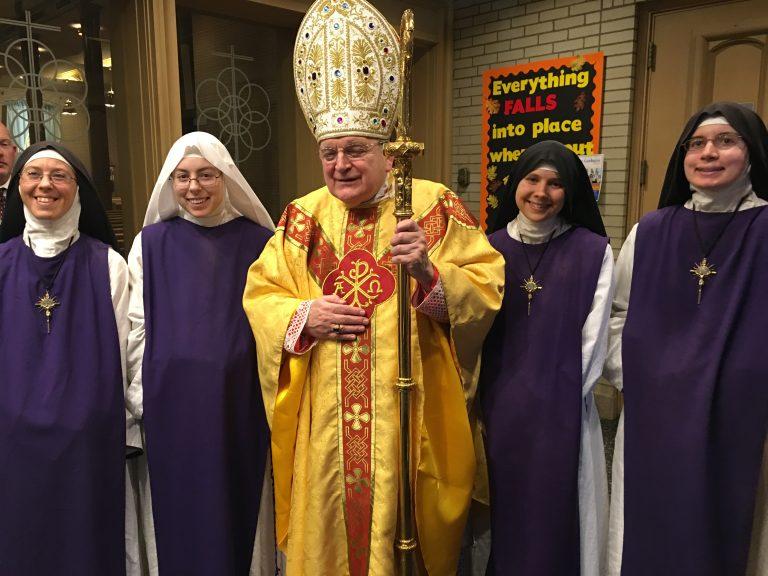 Cardinal Burke in Cincinnati for the CHI Mass