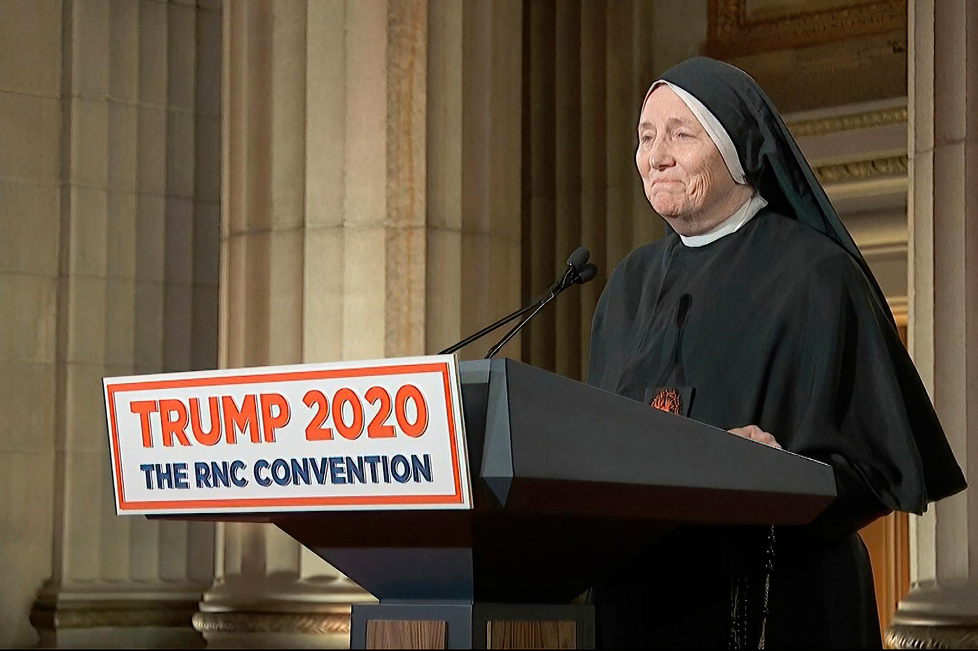 "Sister Deirdre Byrne at the GOP Convention – ""I'm not just pro-life…I'm pro-eternal life!"""